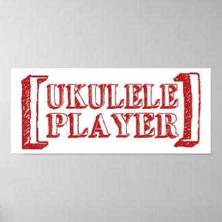 Ukulele Player Poster