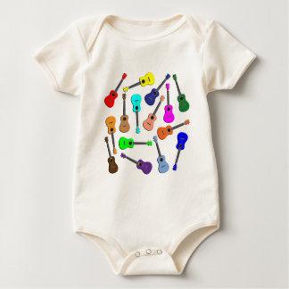 Ukulele Rainbow Baby Bodysuit