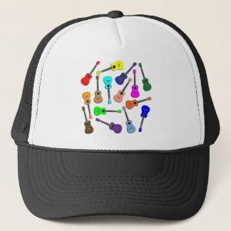 Ukulele Rainbow Trucker Hat