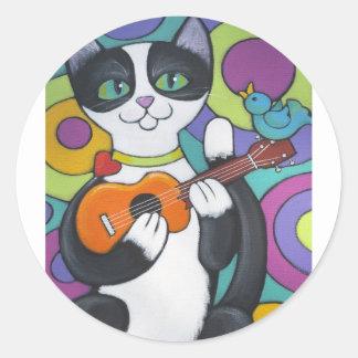 Ukulele Serenade Round Sticker