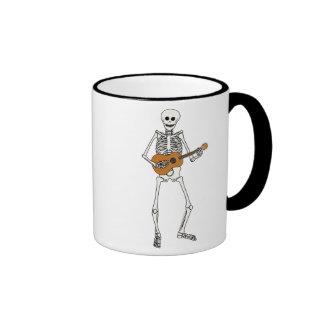 Ukulele Skeleton Ringer Mug