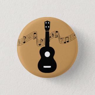 Ukulele with Music Notes 3 Cm Round Badge