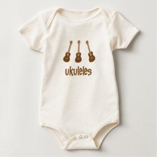 ukuleles baby bodysuit