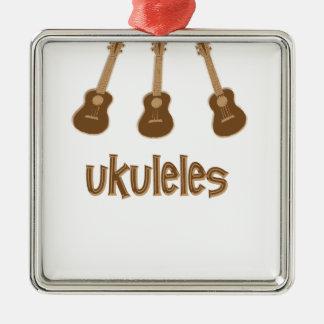 ukuleles metal ornament