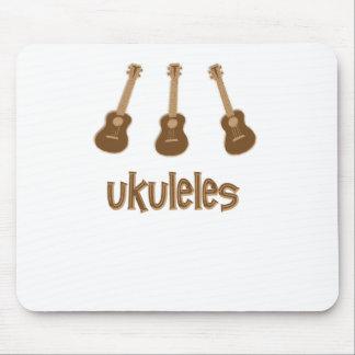 ukuleles mouse pad
