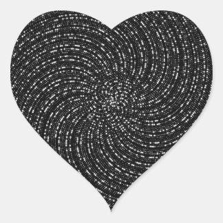 Ulam Spiral Heart Sticker