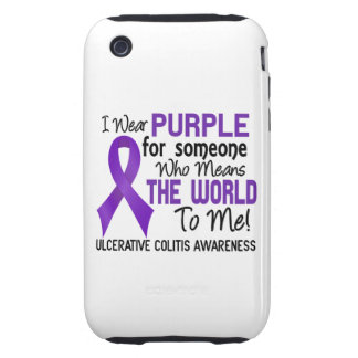 Ulcerative Colitis Means World To Me 2 Tough iPhone 3 Covers