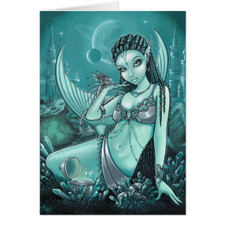Uli Alien Mermaid Celestial Dragon Crystal City Card