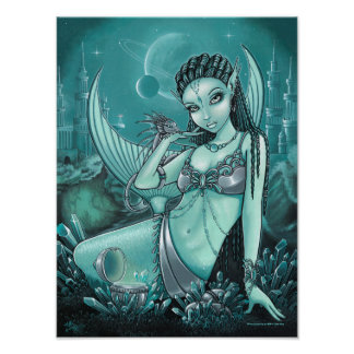 Uli Alien Mermaid Crystal Dragon City Poster