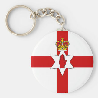 Ulster Banner Northern Ireland Flag Basic Round Button Key Ring