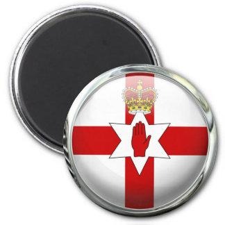 Ulster Northern Ireland Flag Glass Ball Magnet