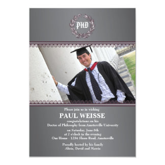 Ultimate Achievement Photo Graduation Invitation