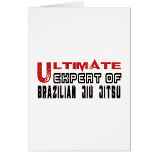 Ultimate Expert Of Brazilian Jiu Jitsu. Card