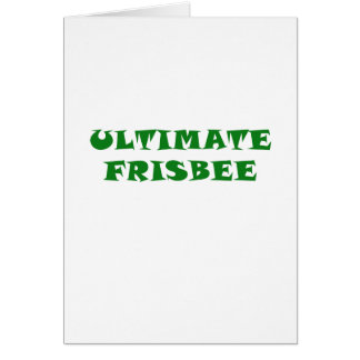 Ultimate Frisbee Card
