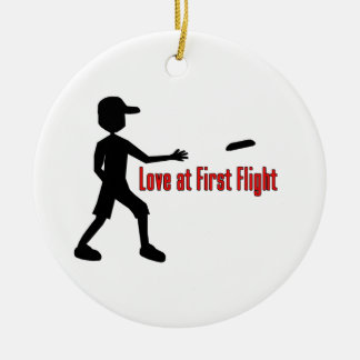Ultimate Frisbee Love at First Flight Ceramic Ornament