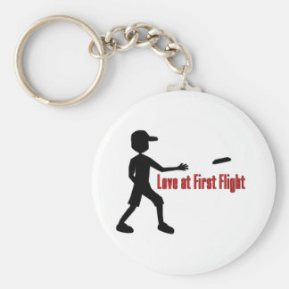 Ultimate Frisbee Love at First Flight Key Ring