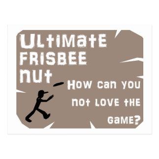 Ultimate Frisbee Nut Postcard