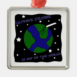 Ultimate Frisbee Out of this World Metal Ornament