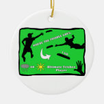 Ultimate Frisbee Rain or Shine Christmas Tree Ornament