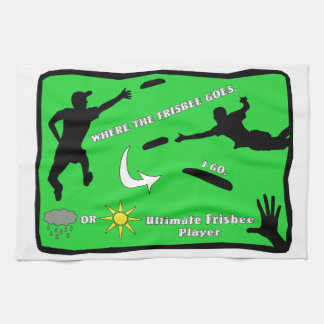 Ultimate Frisbee Rain or Shine Tea Towel