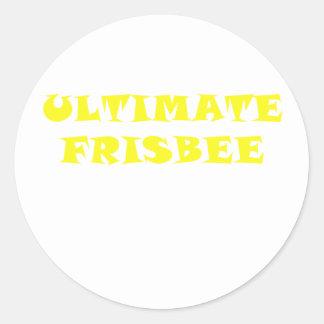 Ultimate Frisbee Round Sticker
