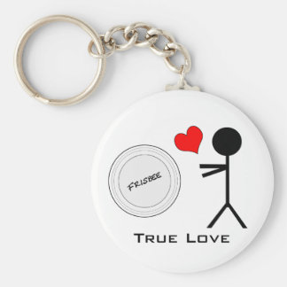 Ultimate Frisbee True Love Basic Round Button Key Ring