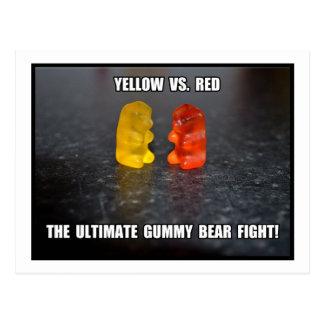 Ultimate Gummy Bear Fight Postcard