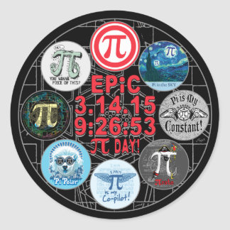 Ultimate Memorial for Epic Pi Day Classic Round Sticker
