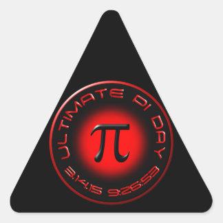 Ultimate Pi Day 2015 3.14.15 9:26:53 (red) Triangle Sticker