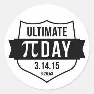 Ultimate Pi Day 2015 Round Sticker
