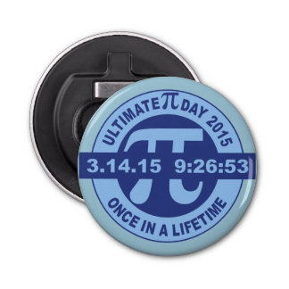 Ultimate Pi day bottle opener 2015 3.14.15 9:26:53