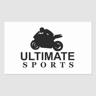 ULTIMATE SPORTS (superbikes) Rectangular Sticker