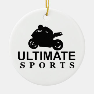 ULTIMATE SPORTS (superbikes) Round Ceramic Decoration