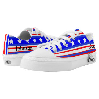 Ultimate USA Stars and Stripes Patriot Blue Printed Shoes