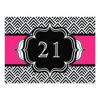 Ultra Chic Girl s 21st Birthday Modern Chevron Announcement