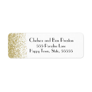 Ultra Chic Gold Glitter Sparkle Return Address Label