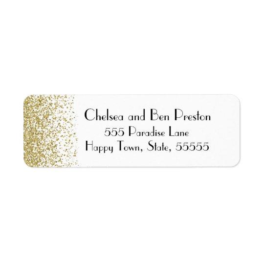 Ultra Chic Gold Glitter Sparkle Return Address Label