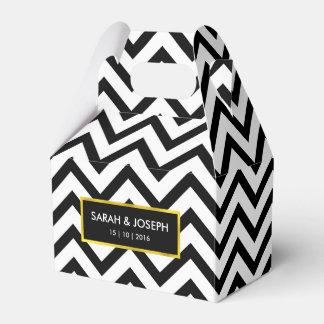 Ultra Chic High Fashion Chevron Wedding Party Favour Box