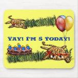 Ultra Cute Leopard Safari Birthday Invitations Mousepads