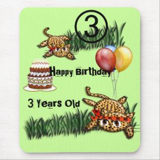 Ultra Cute Leopard Safari Birthday Invitations Wit Mouse Pad
