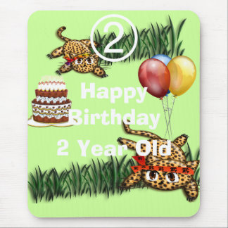 Ultra Cute Leopard Safari Birthday Invitations Wit Mouse Pad