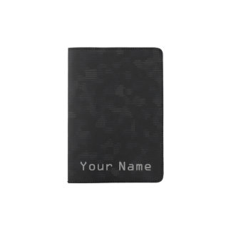 Ultra dark modern futuristic fashion black passport holder