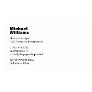 Ultra Minimalist White Business Card