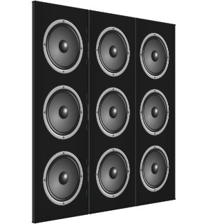 Ultra Modern Faux Speaker System Stretched Canvas Prints