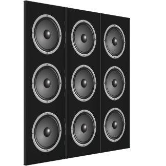 Ultra Modern Faux Speaker System Canvas Print