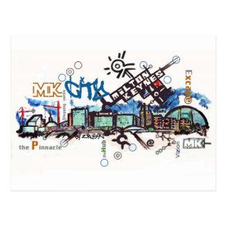Ultra-modern MK postcard