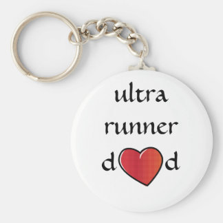 Ultra Runner Dad Red Heart Design Key Ring