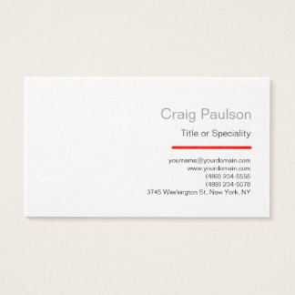 Ultra Thick Charm Black White Red Business Card