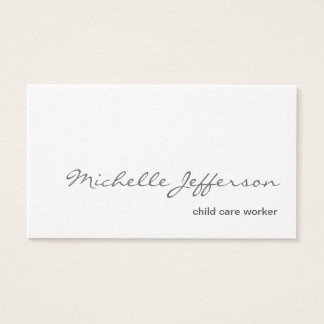 Ultra-Thick White Child care worker Business Card