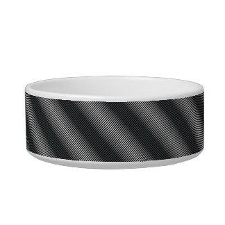 Ultra Thin Black & White Gradation Lines Bowl